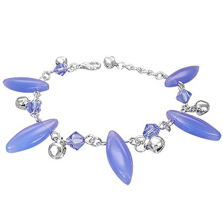 The Stainless Steel Jewellery Shop - Lovely Lilac/Blue Beads Bracelet