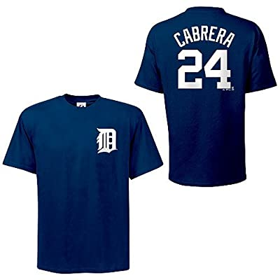 MLB Detroit Tigers Miguel Cabrera Name and Number T-Shirt, Dark Blue