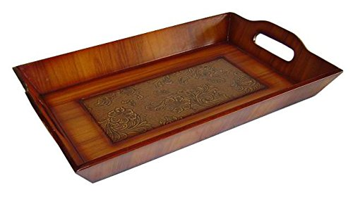 Cheung's Rattan FP-2432C Wooden Rectangular Tray (Wooden Vanity Tray compare prices)