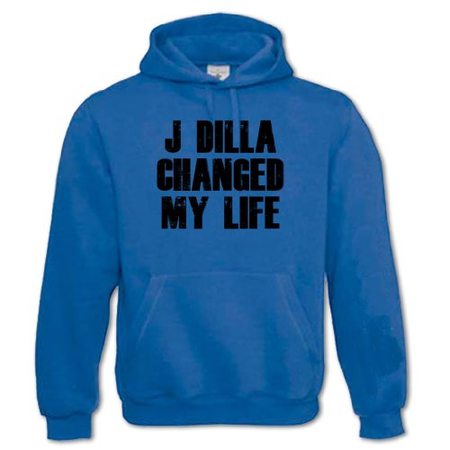Bang Tidy Clothing Unisex Adults J Dilla Changed My Life Hoodie Royal Blue L