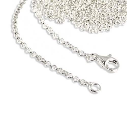 SilberDream Charms Necklace 925 Sterling Silver 19.7 inch original Charm Collection Necklace for Charm Pendants FC00295-1