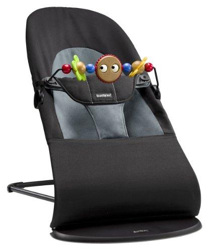 605001 Babywippe Paket, Balance Soft und Holzspielzeug, Cotton, schwarz/dunkelgrau