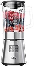 AEG PerfectMix 1,2 PS Hochleistungs-Standmixer PremiumLine 7Series SB 7500 (23.000 U/min perfekt für Smoothies, 5 Geschwindigkeitsstufen, 1,65 L Thermo-Glaskrug, Titan beschichtete Messer, LED-Hinterleuchtung) Edelstahl