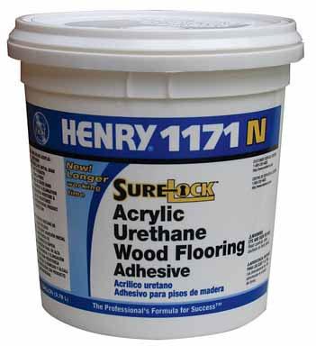 4 each: Henry 1171n Acrylic Urethane Wood Flooring Adhesive (FP001171044N)