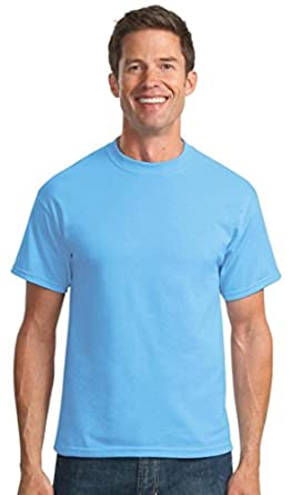Port & Company Tall 50/50 Cotton/Poly T-Shirts>LT Aquatic Blue PC55T