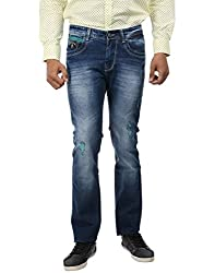 Oxemberg Slim Fit Men's Used Blue Denim