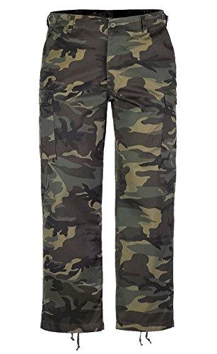 Brandit - Pantaloni - cargo - Uomo, Brown - Woodland, L (inch 34W )