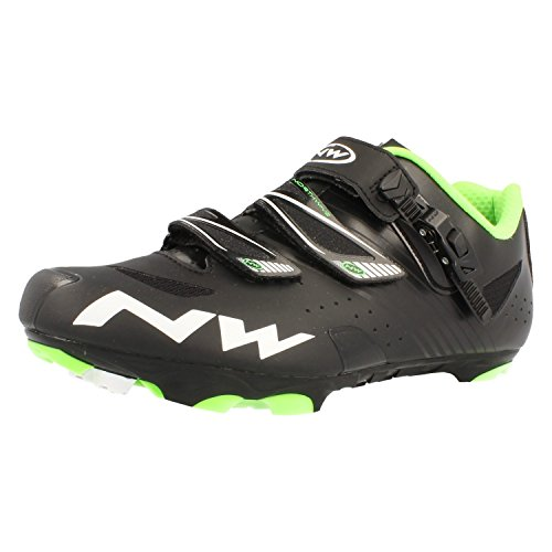 Northwave-SRS-Scarpe da Mountainbike, (black - green), 42