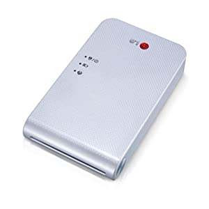 New LG Portable Mobile Pocket Photo PD241 PD241T Printer [Jewely White] (Follow-up model of PD239) Bluetooth Wireless Printing for iOS, Android and Windows OS