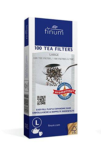 Finum 100 Tea Filters, Large, White