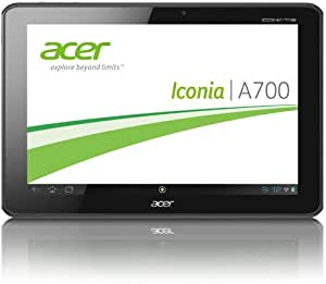 Acer Iconia A700 25,7 cm (10,1 Zoll) Tablet-PC (Full HD, NV Tegra 3 Quad-Core, 1,3GHz, 1GB RAM, 32GB Flashspeicher, Bluetooth, Android 4.1) schwarz