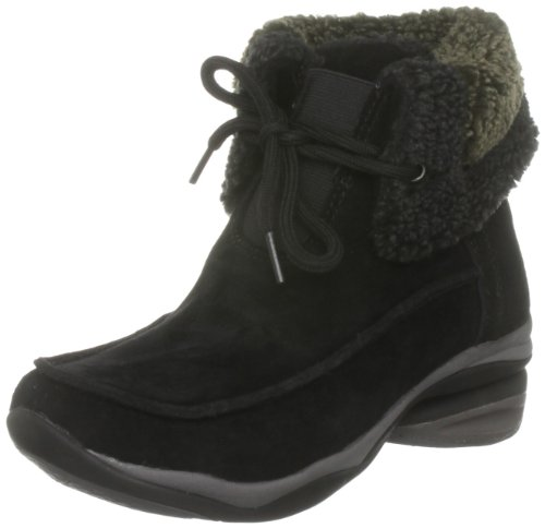 Hush Puppies Women's Rotate Black Suede Fur Trimmed Boots H26179200 7 UK