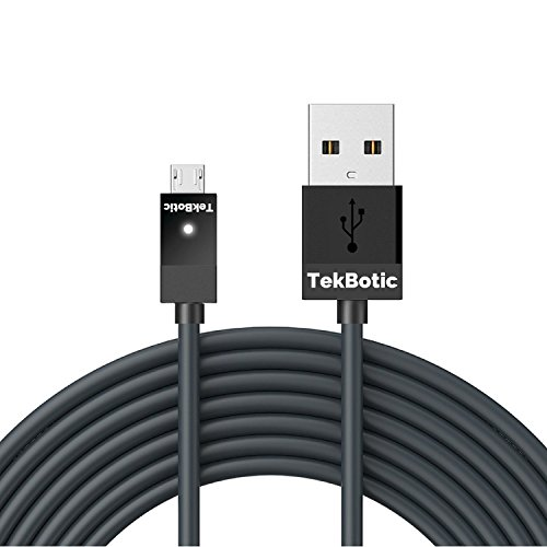 TEK Micro USB Cable for PS4/Xbox One Controller V2.0. 9ft Play & Charge (6 Ft Flat Micro Usb Cable compare prices)