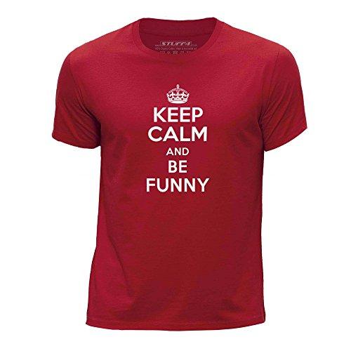 STUFF4-ChicosEdad-de-12-14-152-164cmRojoCuello-redondo-de-la-camisetaKeep-Calm-Be-Funny