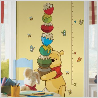 Winnie The Pooh Growth Chart Wall Sticker Decals Nursery Room Decor Baby Decals front-1060093