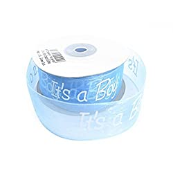 Madcaps It'S A Boy Organza Ribbon - Blue