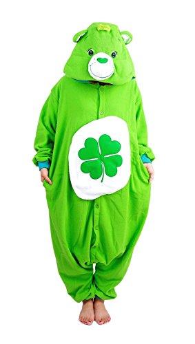 Ztl Unisex Cosplay Costume Animal Onesie Pajamas Kigurumi Clover Bear (Adult Care Bear Costume compare prices)