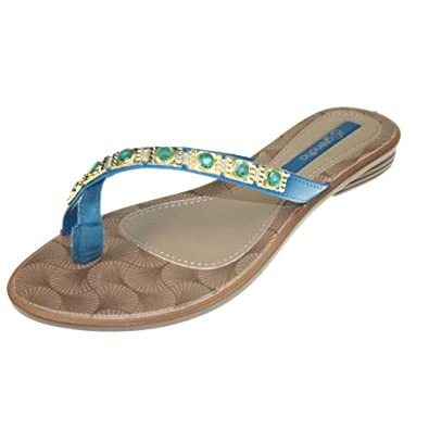 GRENDHA - Chaussures Femmes - JOIA IMPERIAL THONG FE - 81272 - brown blue gold, Taille:38