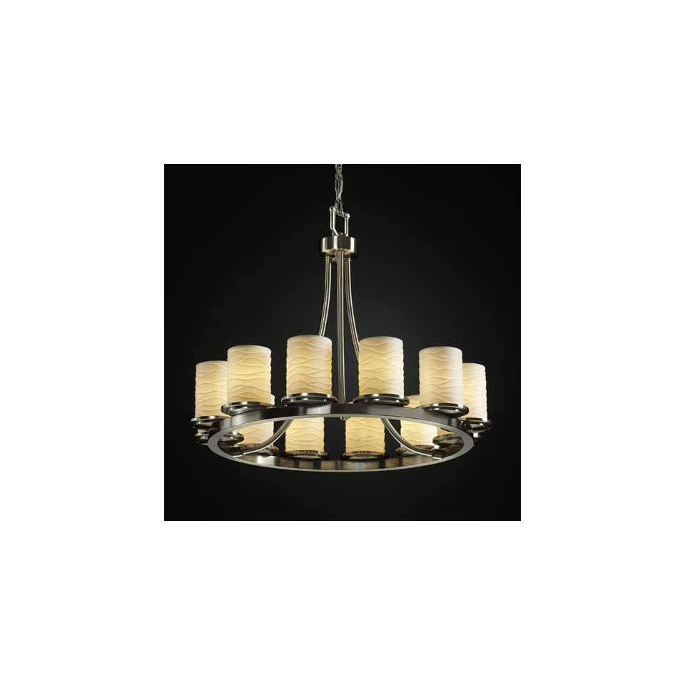 Justice Design Group POR 8768 Dakota 12 Light Ring Chandelier (Short)