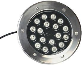 LUMINTURSTM 18W 12V LED RGB Color Change Outdoor Exterior Buried Spot Light Fixture Underground Floo