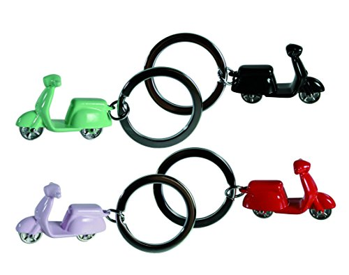 Wonderful Christmas Present - Classic BLACK Scooter/Moped/Vespar Metal Keyring, Keychain - Great Gift for the Rider/Enthusiast/Fan or Childrens Stocking Filler