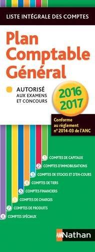 Plan comptable général 2016/2017