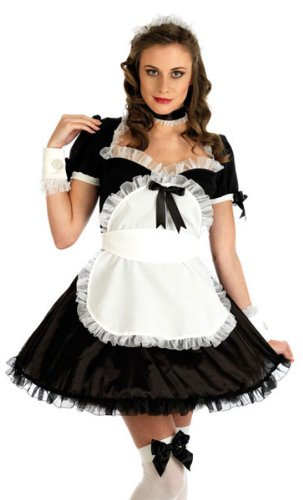 SEXY FRENCH MAID FANCY DRESS COSTUME LARGE 12-14