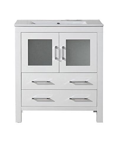 Virtu USA Dior 30 Single Bath Vanity Cabinet, White