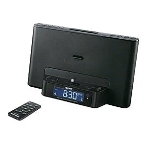 Sony ICF-DS15iPN Radio réveil avec station d'accueil AM/FMpour iPod/iPhone 5 Noir