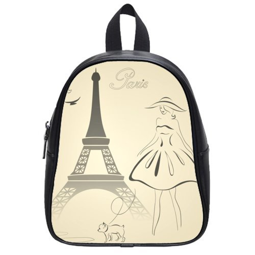 Novel Design Excellent Children Backpacks With Paris Eiffel Tower Theme,Pu Leather