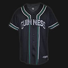 GUINNESS BLACK BASEBALL JERSEY