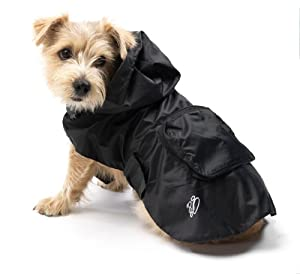 House Of Paws Pac-A-Mac Raincoat, XXL, Black