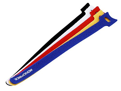 Monoprice 106488 9-Inch Hook and Loop Fastening Cable Ties, 5 Colors (Hook And Loop Cable Ties 9 Inch compare prices)