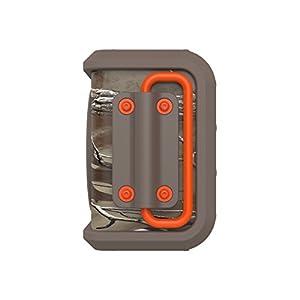 Bocina Skullcandy Air Raid  resistentes al agua y a las caidas portátil Bluetooth, color anaranjado y Dark Tan