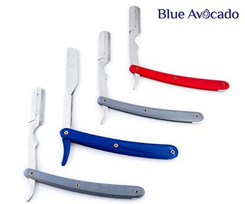 4x-edelstahl-rasiermesser-und-5-shark-super-stainless-klingen-friseur-salon-razor-4-verschiedenen-fa