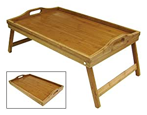 Simply Bamboo Extra Large Bamboo Bed Tray w/ Folding Legs 22 by 14 by 9.5