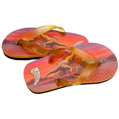 Dinosoles Dinoflips Kids Sandals - T Rex - UK 9/10 (Jnr)