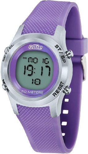 Ladies Purple Digital Rubber Sport Stop Watch by Ollie Cso-a0569-A