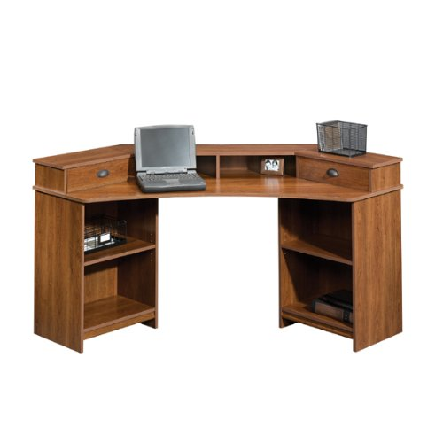 Buy Low Price Comfortable Sauder Whistler Corner Computer Desk (Shaker Cherry) [Office Product] (B003TLFH6E)