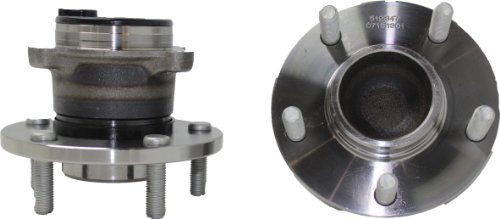 Brand New (Both) Rear Wheel Hub and Bearing Assembly 2004-12 Mazda 3 5 5 Bolt w/ ABS (Pair) 512347 x2 (Mazda 3 Rear Wheel Bearing compare prices)