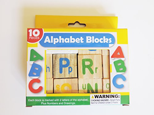 Momentum Brands Set of Alphabet Blocks, 10 Piece