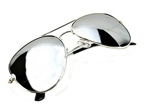 962559a06d1 WebDeals - Aviator Full Silver Mirror or Color Mirror Metal Frame Sunglasses  (Large)