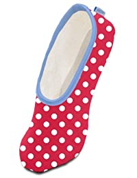 Preppy Polka Snoozies Skinnies Slippers Adult Adult Small 5-6