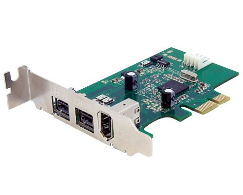 StarTech.com PEX1394B3LP 3-Port 2b 1a Low Profile 1394 PCI Express FireWire Card Adapter