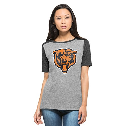 NFL Chicago Bears Women's '47 Empire Tee, Medium, Vintage Grey (Chicago Bears Womens Jersey compare prices)