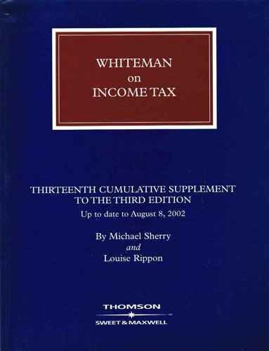 Whiteman On Income Tax: 13Th Supplement (British Tax Library)