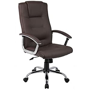 Winchester Executive Chair   Executive Desk Chair   Headrest   Adjustable   Gas Lift   Brown Leather   Chrome Base       review and more information