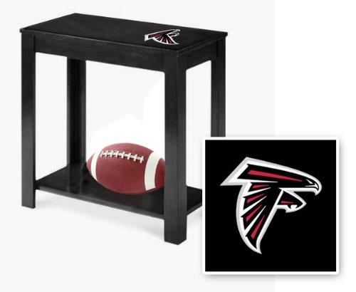 New Black Finish End Table Featuring Atlanta Falcons Nfl Team Logo
