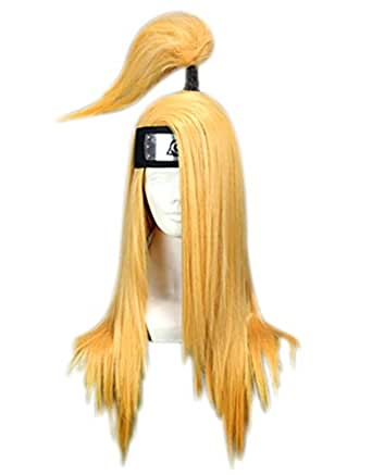 Halloween Anime N Cosplay Hair Wigs with Leaf Village Headband for Sale