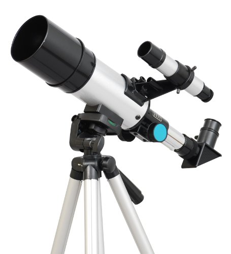 Silver Twinstar 60Mm Compact Kids Refractor Telescope